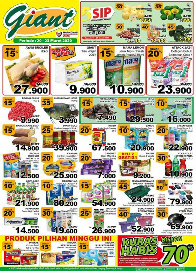 Promo Giant Ekspres Makassar 23 Oktober 2020 Cek Katalog Dan Diskon Promo Produk