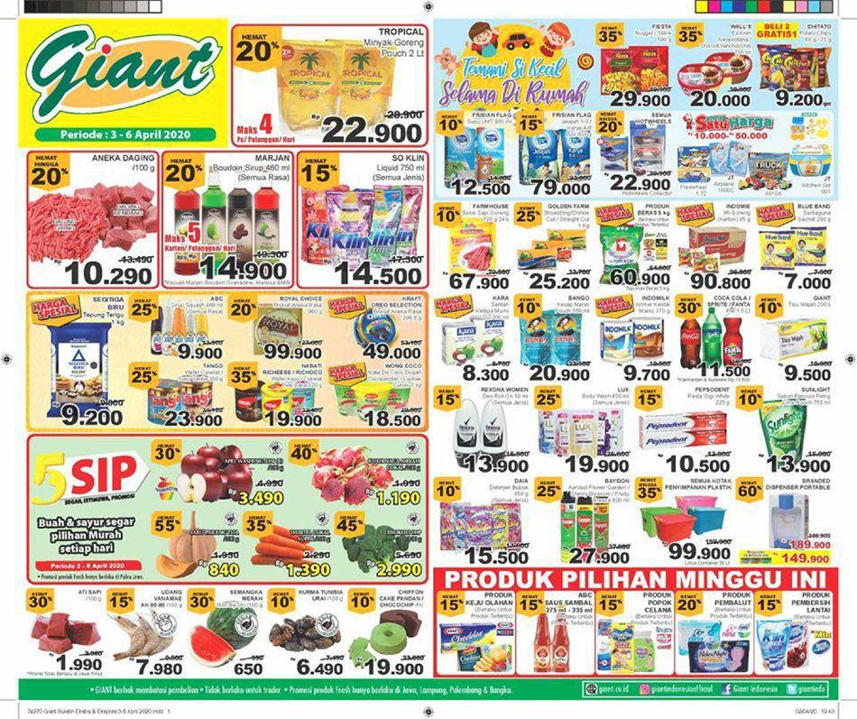 Promo Giant Ekstra Katalog Giant Ekstra Hari Ini 5 April 2020 Promo Produk