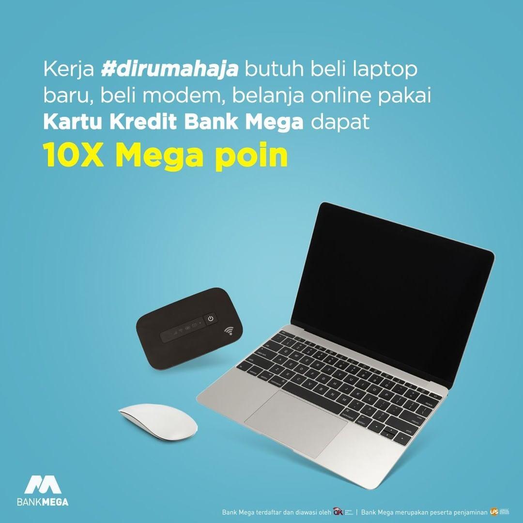 Promo Bank Mega Belanja Pakai Kartu Kredit Dapat 10 Kali Mega Poin Promo Produk