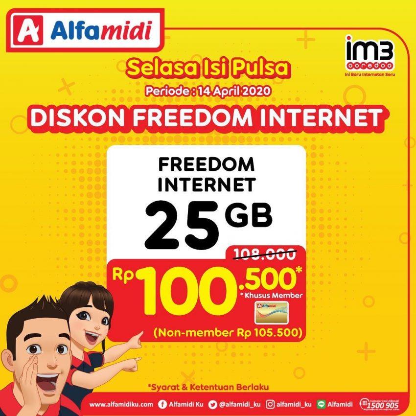 Promo Pulsa Alfamidi Diskon Freedom Internet Im3 25gb Promo Produk