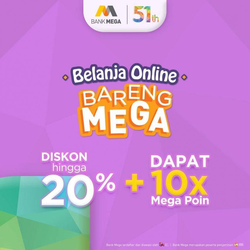 Promo Bank Mega Hari Ini Diskon 50 Belanja Di Jd Id Promo Produk