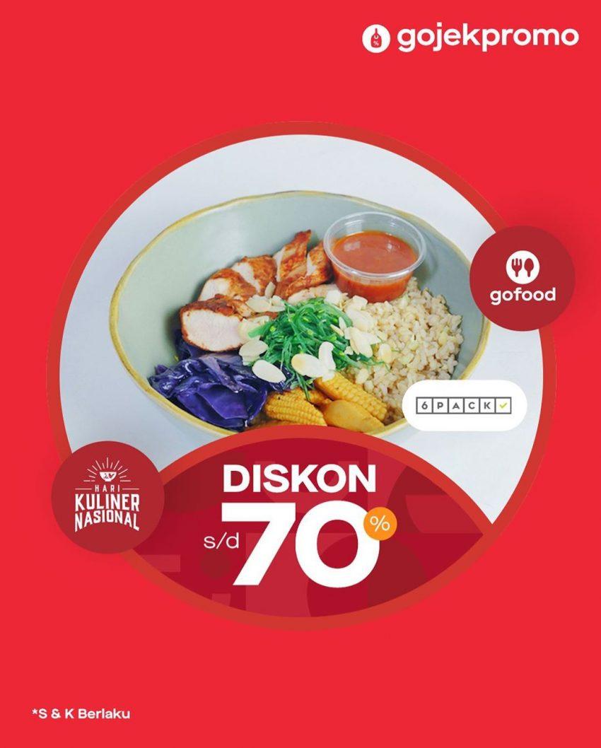 Promo Gojek Order Gofood 6pack Diskon 70 Promo Produk