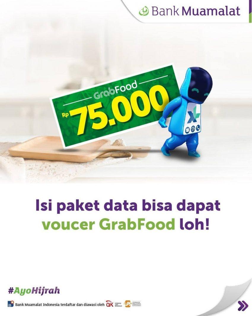 Promo Bank Muamalat 19 April 2020 Isi Paket Data Xl Dapat Voucher Grabfood Promo Produk
