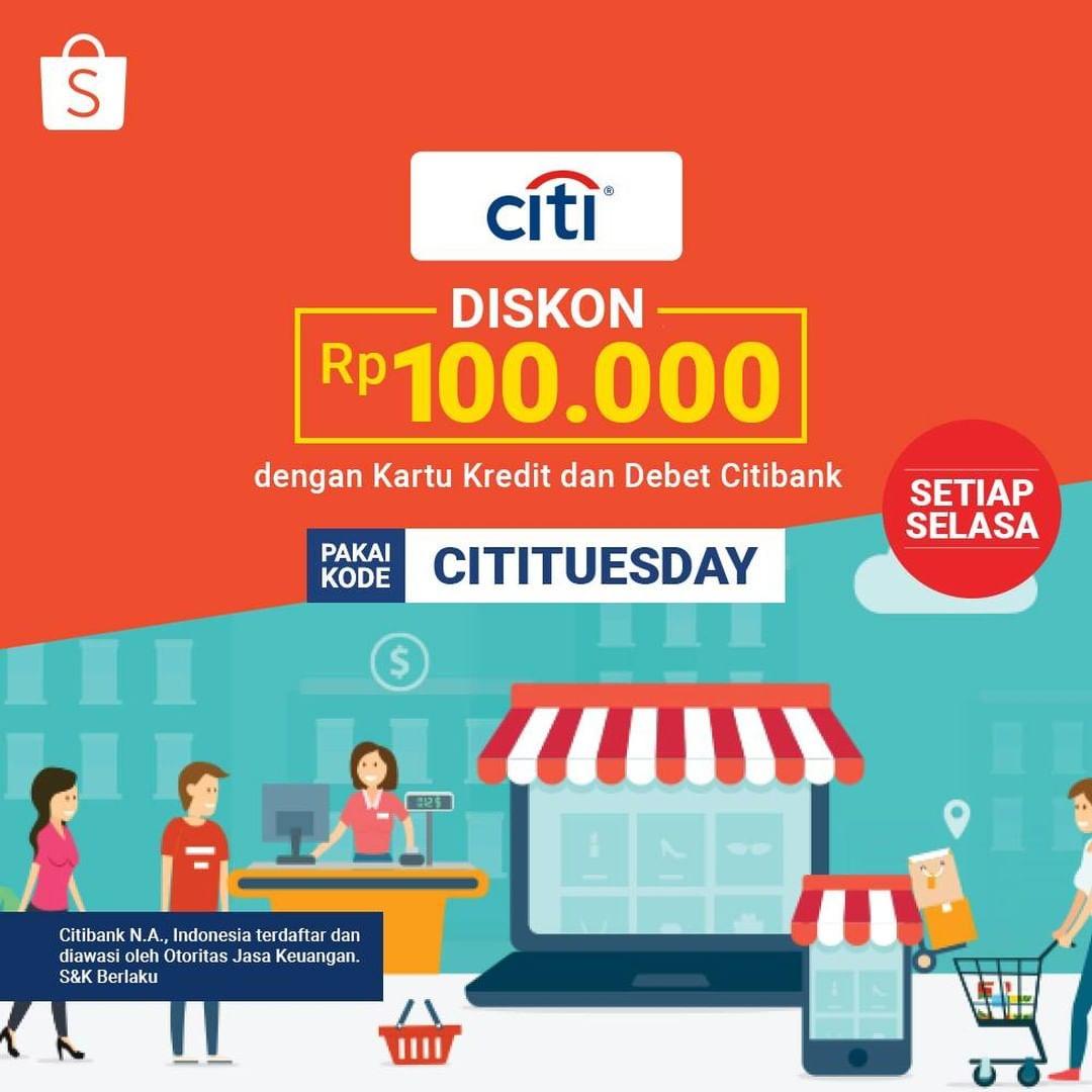 Promo Shopee Citibank Diskon Rp100 Ribu Promo Produk