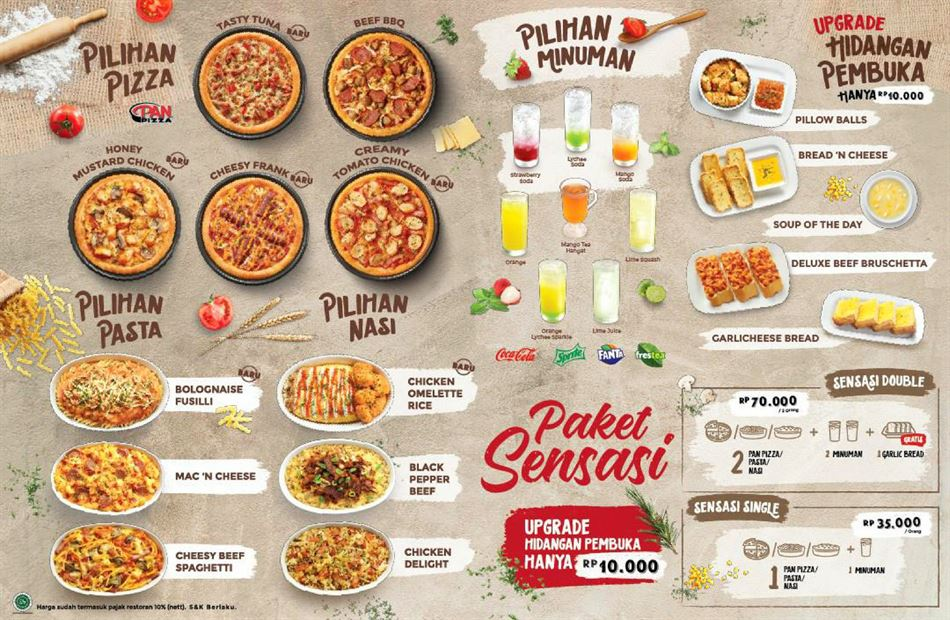 Daftar Harga Pizza Hut Sm Raja Medan