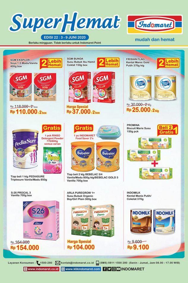 Promo Indomaret Indomaret Super Hemat 3 Juni 9 Juni 2020 Promo Produk