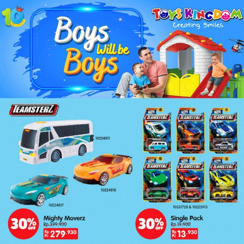 Katalog Toys Kingdom Promo Boys will be Boys
