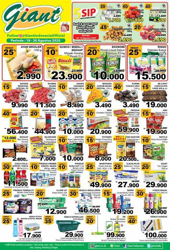 Promo Giant Ekstra Katalog Giant Ekstra 18 Agustus 20 Agustus 2020 Promo Produk