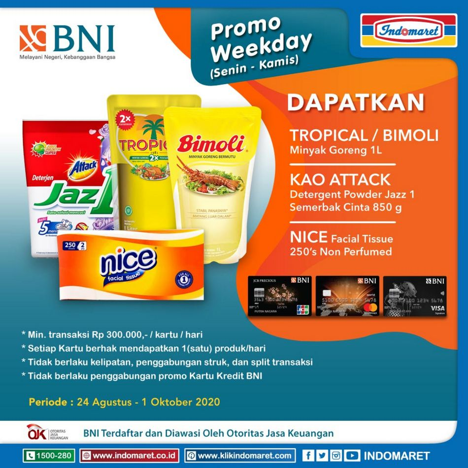 Promo Indomaret Indomaret Promo Bank 28 Agustus 1 Oktober 2020 Promo Produk