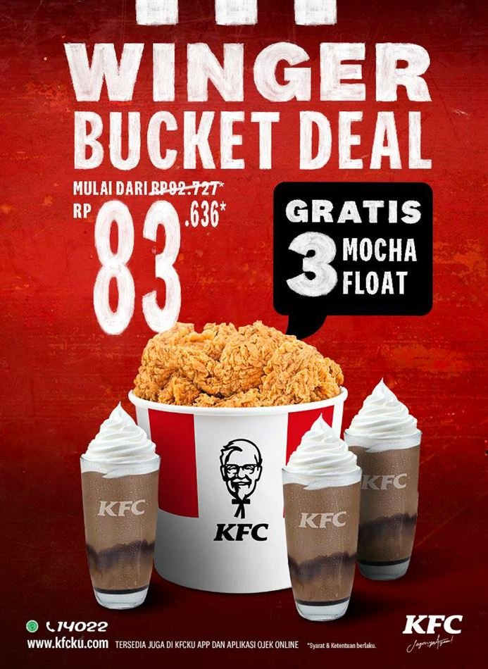 Promo KFC: KFC Winger Bucket Deal, 12 Oktober - 25 Oktober ...