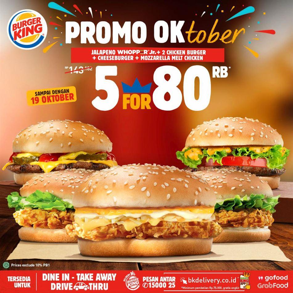Promo Burger King Burger King Promo Oktober Hari Ini 16 Oktober 2020 Promo Produk
